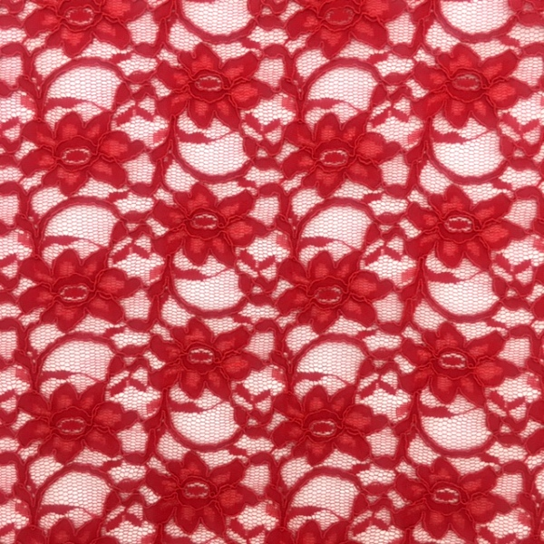 Corded Lace Red