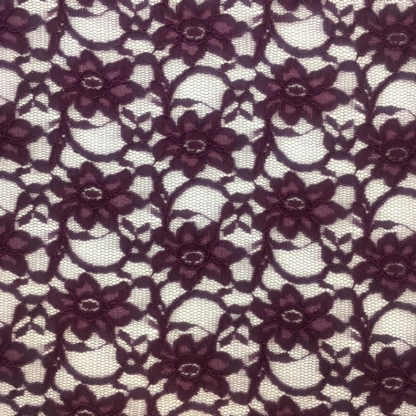 Corded Lace Aubergine