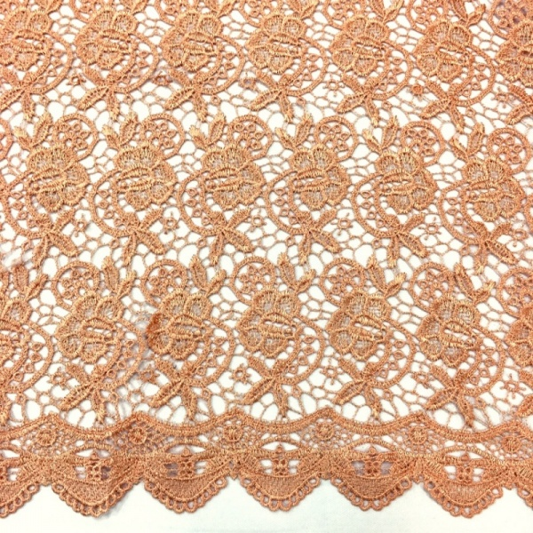 Scalloped Floral Lace PEACH