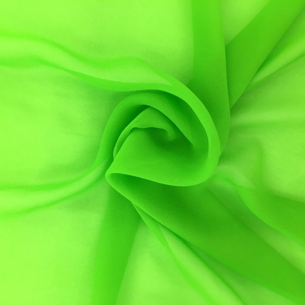 Chiffon Fabric Bright Green