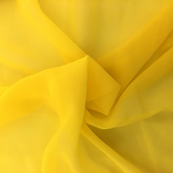 Chiffon Fabric Yellow