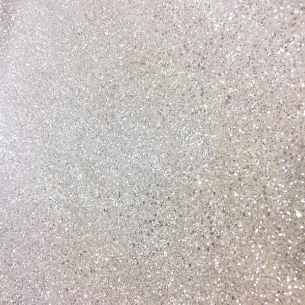 Glitter Jazz Fabric White