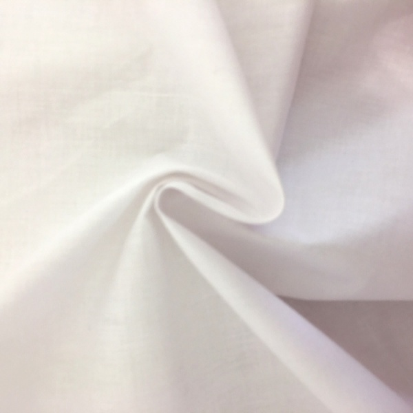 100% Cotton (2.3 metre wide) White