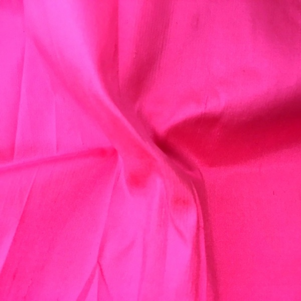 Dupion Silk - BARBIE PINK