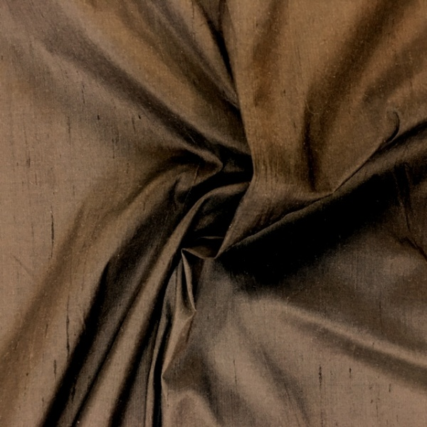 Dupion Silk - BROWN