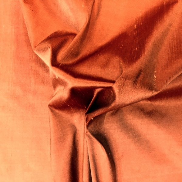 Dupion Silk - RICH TERRACOTA