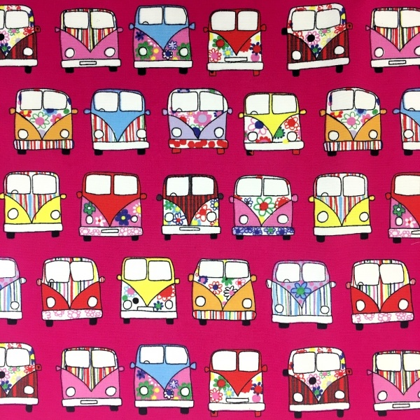 CAMPER VAN 100% COTTON CERISE