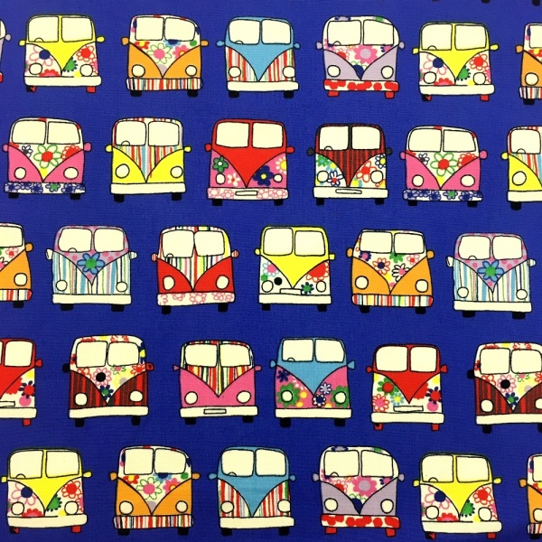 CAMPER VAN 100% COTTON PURPLE