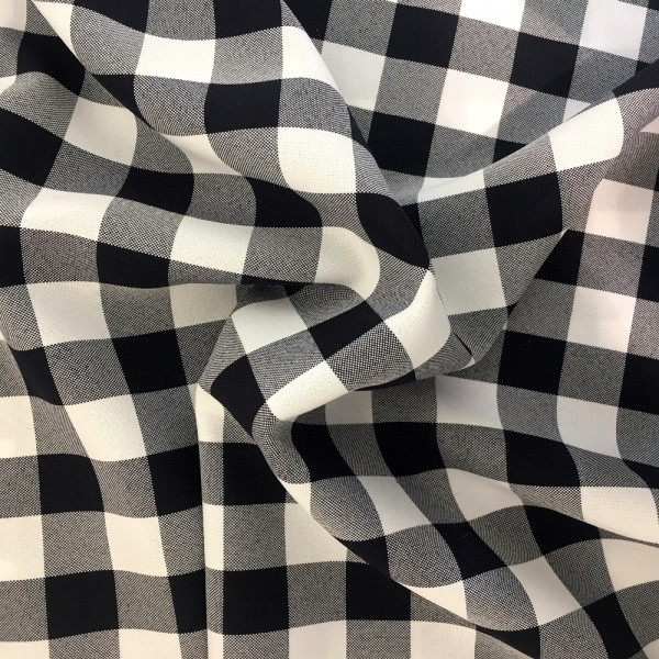 Polyester Check Black