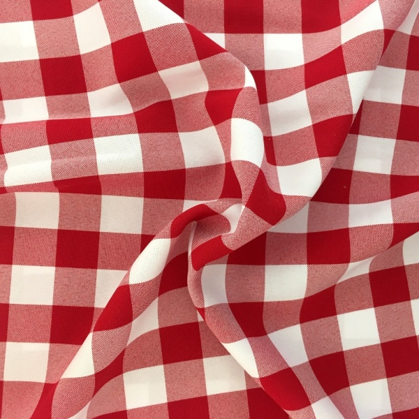 Polyester Check Red
