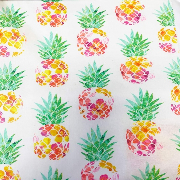 100% Cotton - PINEAPPLES