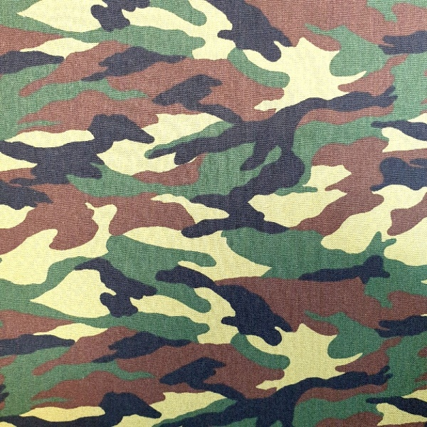 100% Cotton  Camouflage - WOODLAND