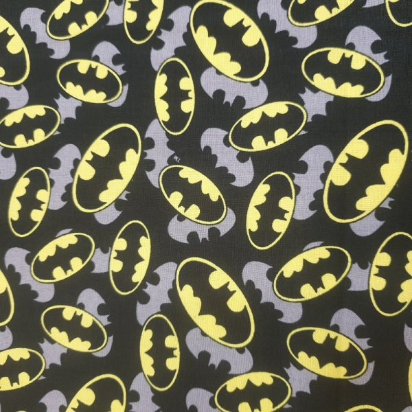 100% Cotton - Batman Logo Overlay
