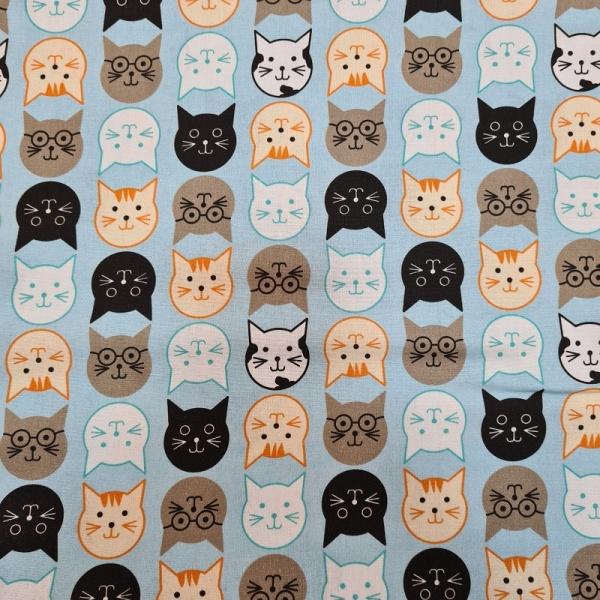 100% Cotton - Multi Cats