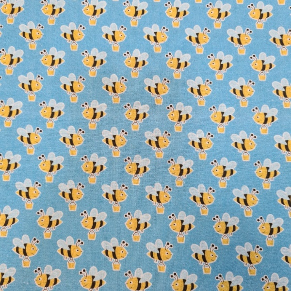 100% Cotton - BUZZY BEES GONE SHOPPING
