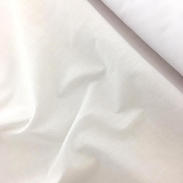 Budget Polycotton by the Roll - WHITE
