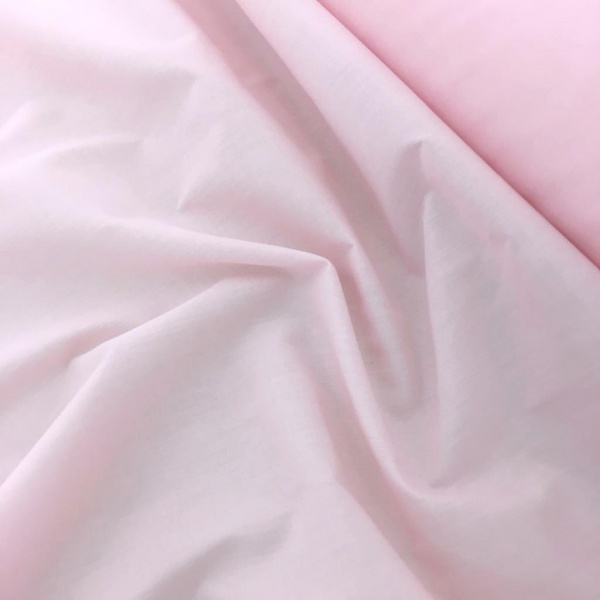 Budget Polycotton by the Roll - BABY PINK