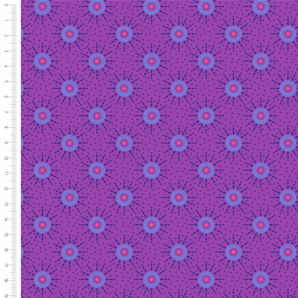 100% Cotton - PURPLE CIRCLES