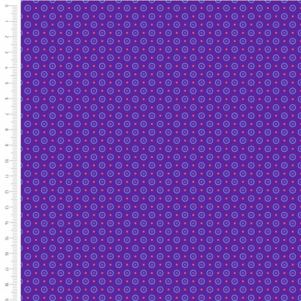 100% Cotton - PURPLE DOTS