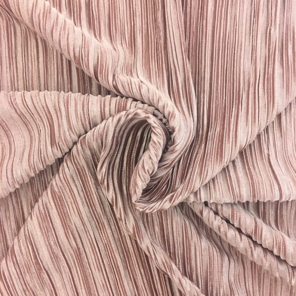 Pleated Polyester DUSKY PINK
