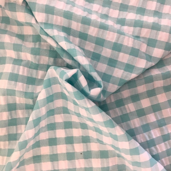 Seersucker Gingham MINT