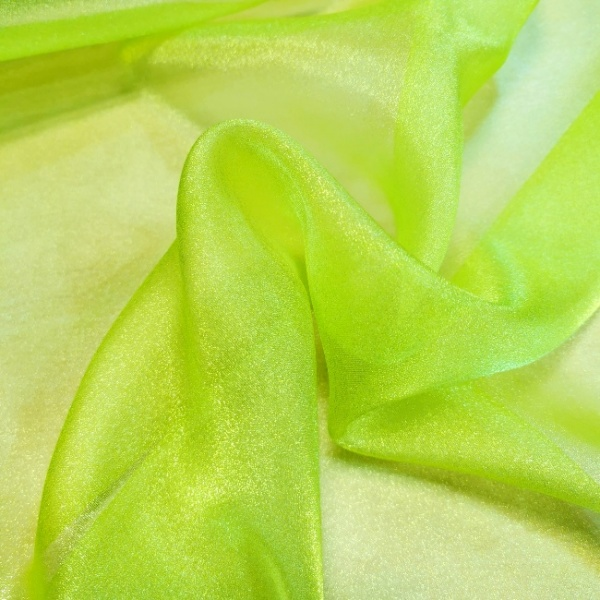 Crystal Organza BRIGHT GREEN