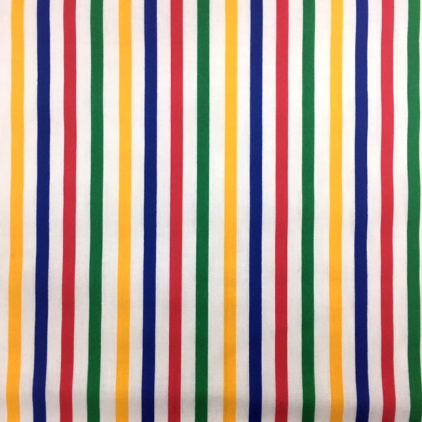 Multi Colour Stripe Polycotton 8mm