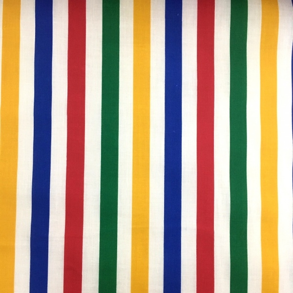 Multi Colour Stripe Polycotton 15mm