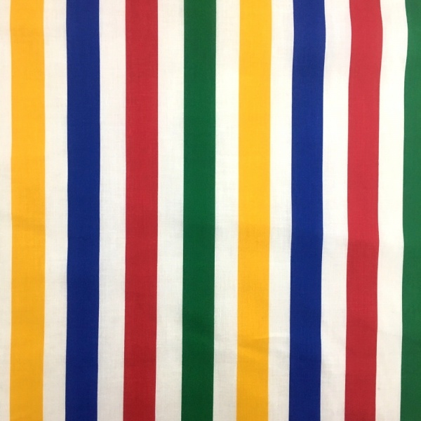 Multi Colour Stripe Polycotton 26mm