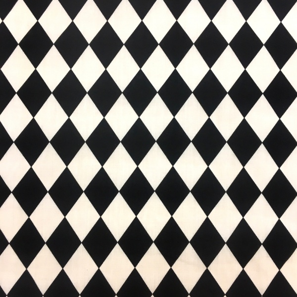 Harlequin BLACK/WHITE Polycotton