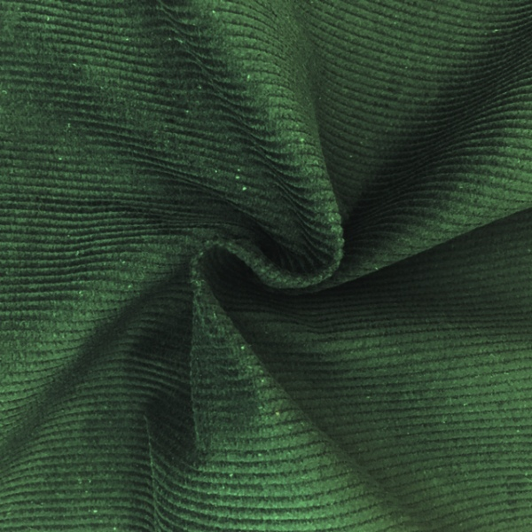 Corduroy Cotton 8 Wale DARK GREEN