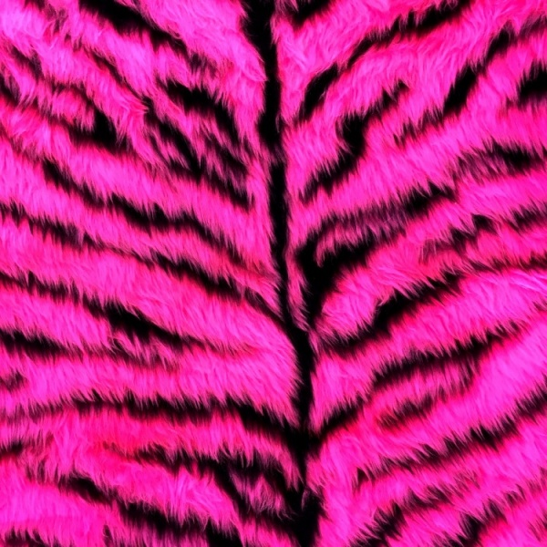 Novelty Fur Pink Tiger Fur