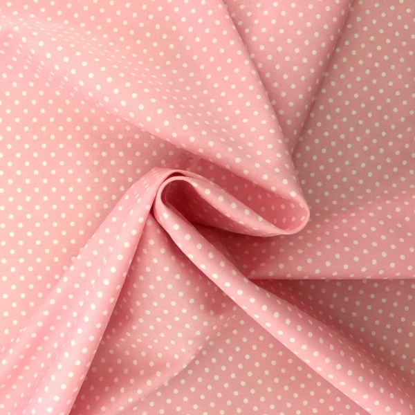 3mm Spot Cotton Baby Pink