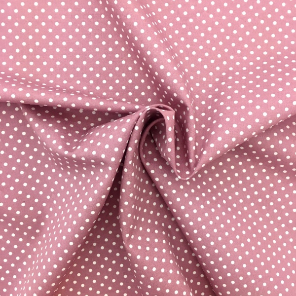 3mm Spot Cotton Dusky Pink