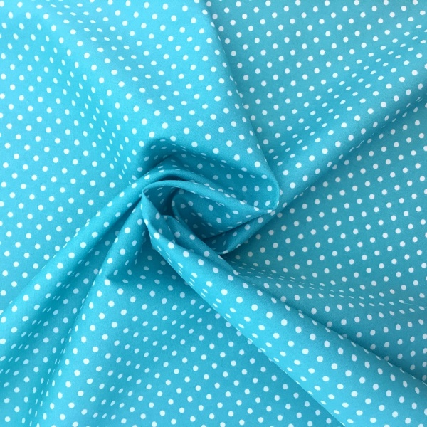 3mm Spot  Cotton Turquoise