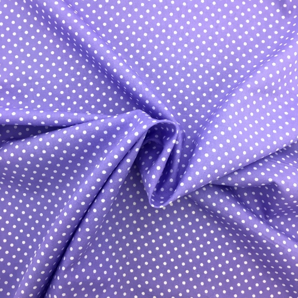3mm Spot Cotton Lilac