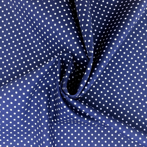 3mm Spot Cotton Royal Blue