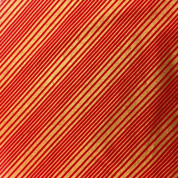Diagonal Stripes RED/GOLD