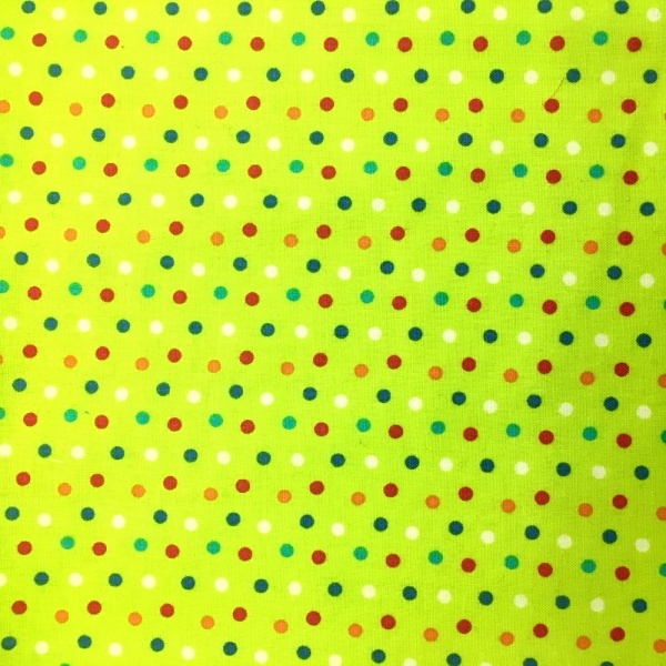 Multi Dots on LIME GREEN