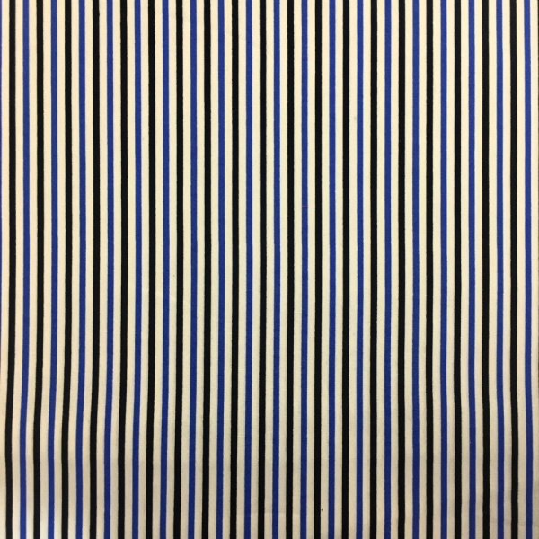 Blue and Black Stripes 100% COTTON