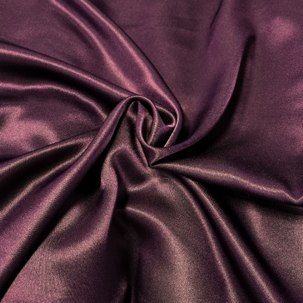 Crepe Backed Satin Aubergine