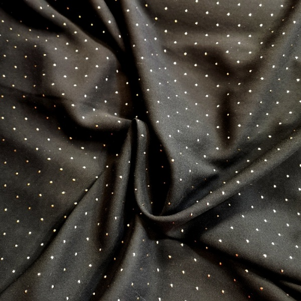 Dew Drop Chiffon -SILVER ON BLACK