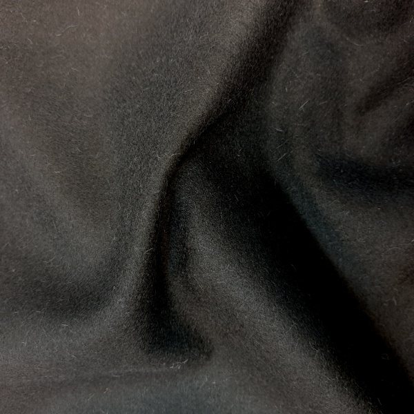 Wool Serge Black FLAME RETARDANT