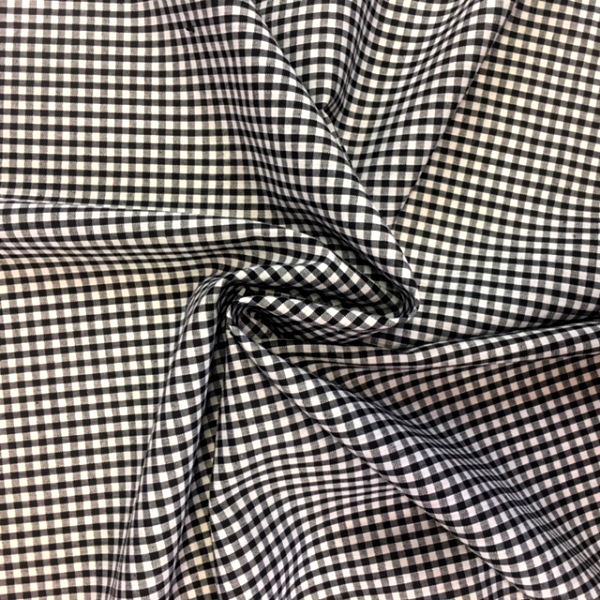 1/8'' Polycotton Gingham BLACK