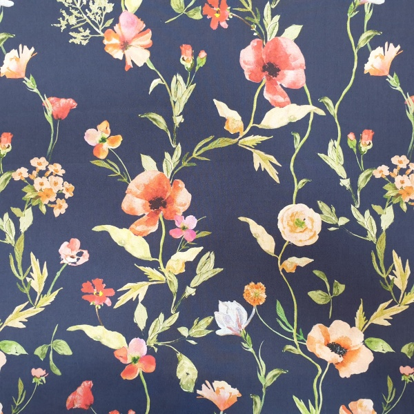 McElroy Cotton Lawn Digital Print Breezy Blooms