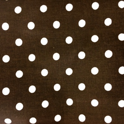 8mm Cotton Poplin Polkadot Brown