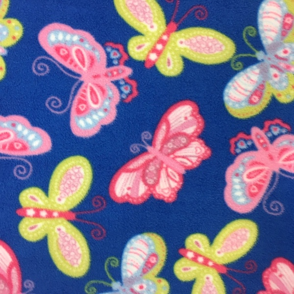 Printed Fleece Fabric - Butterflies
