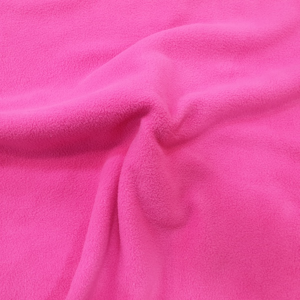 Plain Fleece Fabric  CERISE