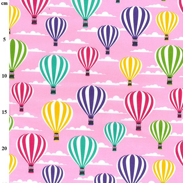 100% Cotton HOT AIR BALLONS CANDY