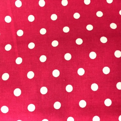 8mm Cotton Poplin Polkadot Cerise